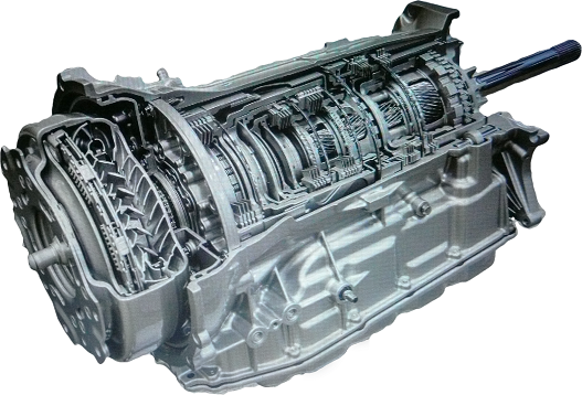picture of a GM pickup automatic transmission fresh out of the transmission repair shop
